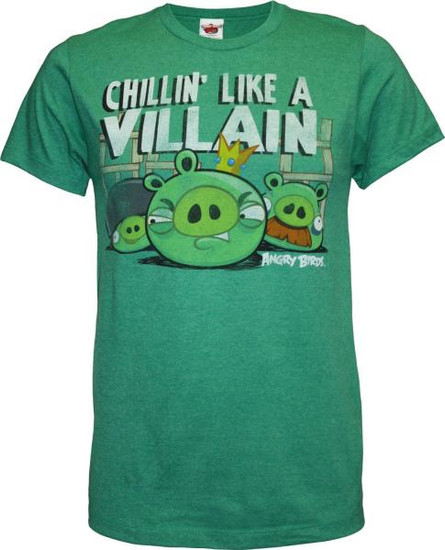 Angry Birds Chillin Like a Villain T-Shirt [Adult XXL]