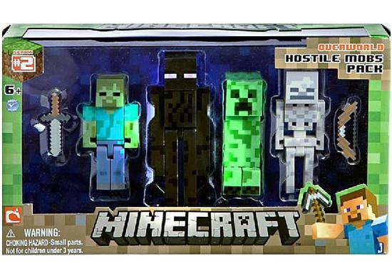 Minecraft Series 2 Hostile Mobs Pack Action Figure 4-Pack [Overworld]