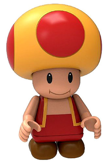 K'NEX New Super Mario Bros U Fire Toad Minifigure [Loose]