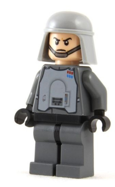 Lego Star Wars Loose Imperial Officer Minifigure Chin Strap Loose