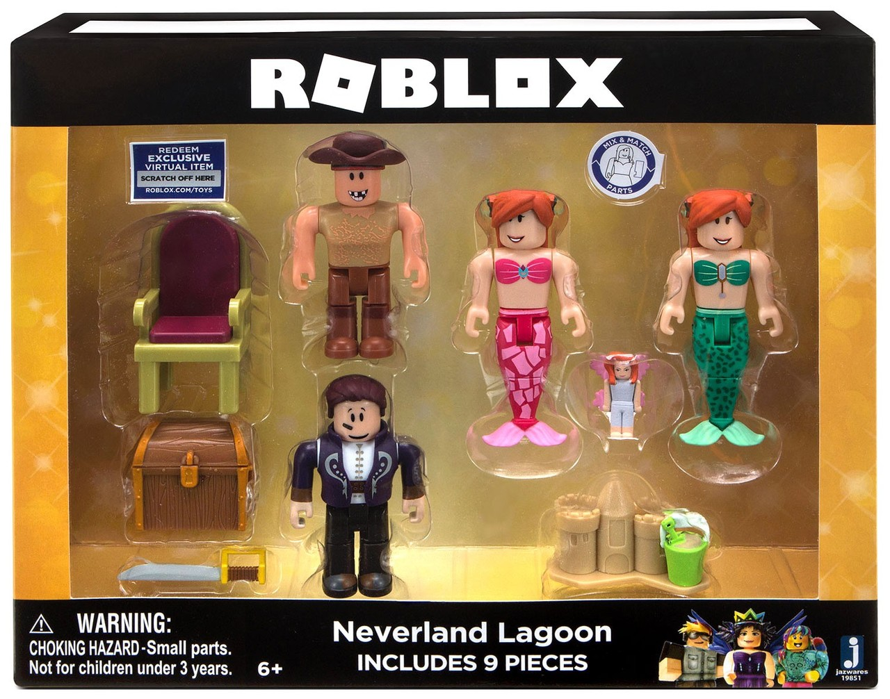 Roblox Wwwtoyscom Roblox Celebrity Collection Neverland Lagoon 3 Action Figure 4