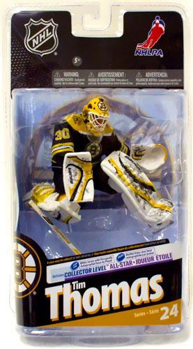Black Jersey NHL Boston Bruins Sports Picks Series 24 Tim Thomas Action Figure