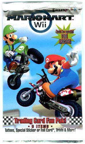 Super Mario Mario Kart Wii Trading Card Pack