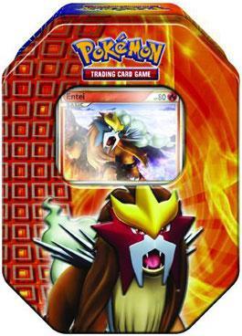 Pokemon HeartGold & Soulsilver Fall 2010 Entei Collector Tin Set
