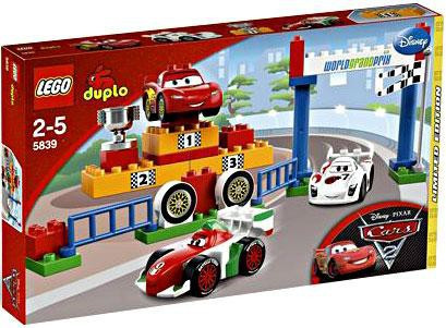 Lego Disney Pixar Cars Duplo Cars 2 World Grand Prix Exclusive Set