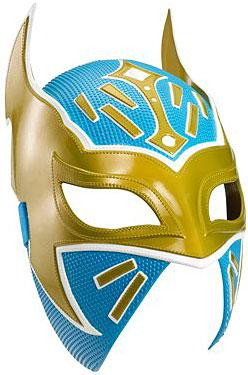 Wwe Wrestling Costumes Sin Cara Replica Mask Gold Blue Mattel Toys