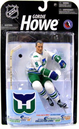 McFarlane Toys NHL Hartford Whalers Sports Picks Series 21 Gordie Howe  Action Figure  White Jersey 28b52865f9f