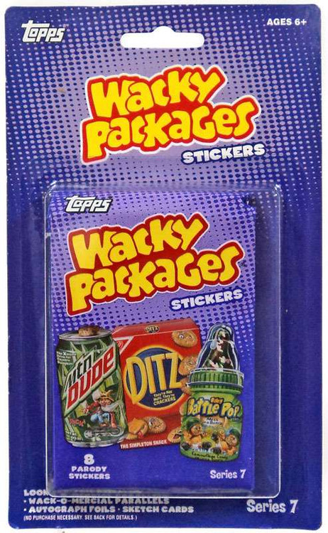 The Next 100 Years >> Wacky Packages Wacky Packages Series 7 Trading Card Sticker 2-Pack Topps - ToyWiz
