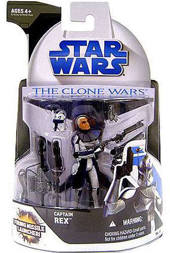 Star Wars The Clone Wars Clone Wars 2008 Captain Rex 375 Action