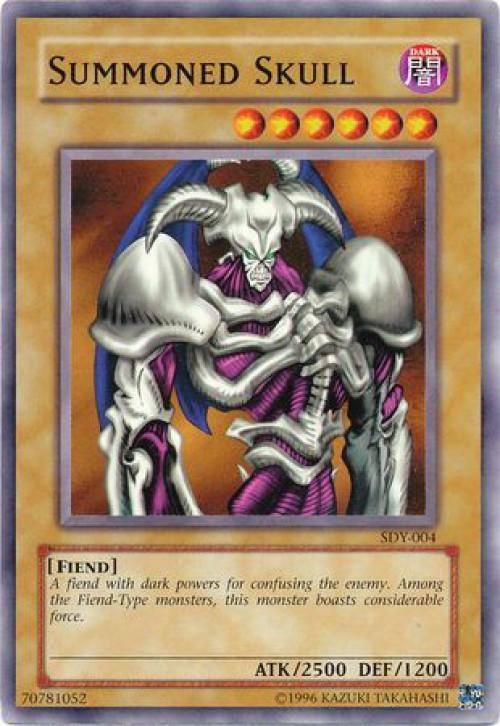 Yugioh Starter Deck Yugi Single Card Common Summoned Skull