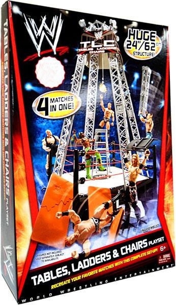WWE Wrestling Tables Ladders u0026 Chairs Exclusive Superstar Ring  sc 1 st  ToyWiz.com & WWE Wrestling Tables Ladders Chairs Exclusive Superstar Ring Mattel ...