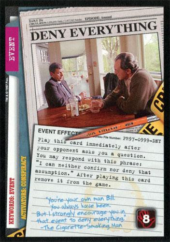 The X-Files Collectible Card Game Base Set Single Card ...