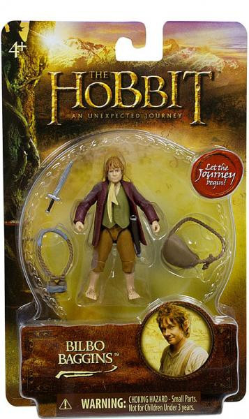 BILBO BAGGINS THE HOBBIT AN UNEXPECTED JOURNEY ACTION FIGURE NEW!