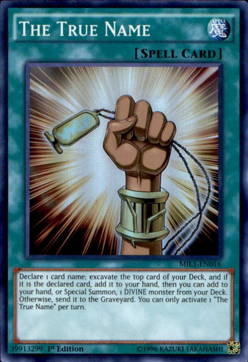 yugioh millennium pack single card super rare the true