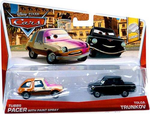 Car Brands Starting With P >> Disney Pixar Cars Lemons Tubbs Pacer with Paint Spray Tolga Trunkov 155 Diecast Car 2-Pack 7 ...