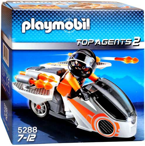 playmobil top agents 2 spy team skybike set 5288  toywiz