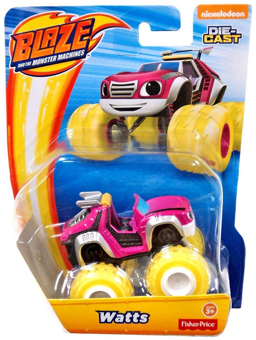 Car Brands Starting With F >> Fisher Price Blaze the Monster Machines Nickelodeon Watts Diecast Car - ToyWiz