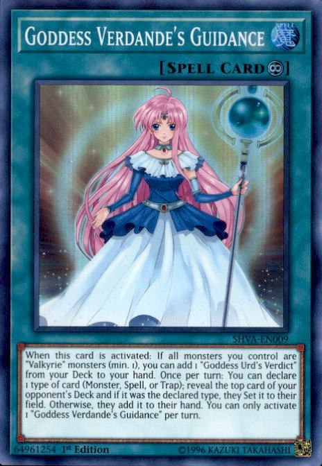 Yugioh Shadows Over Valhalla Single Card Super Rare Goddess