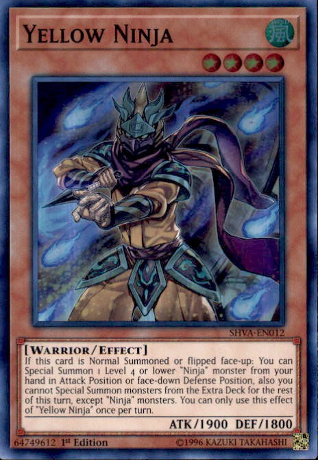 Yugioh Shadows Over Valhalla Single Card Super Rare Yellow Ninja