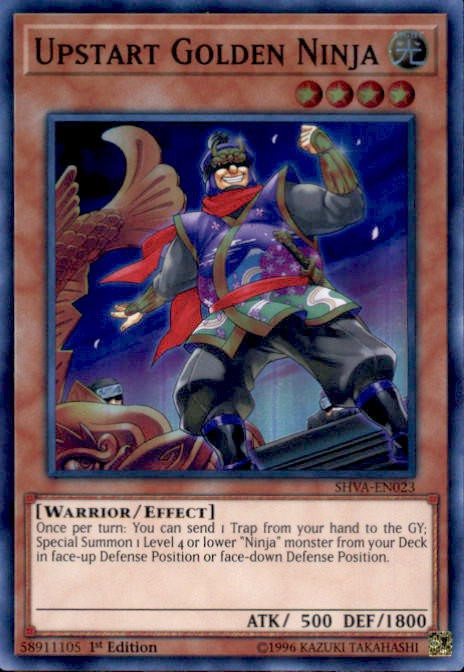 Yugioh Shadows Over Valhalla Single Card Super Rare Upstart Golden