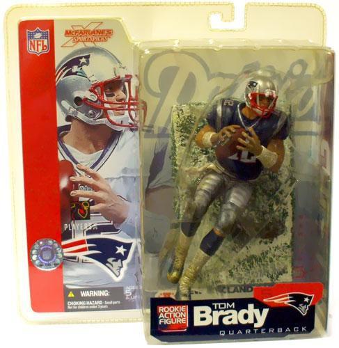 3541678a McFarlane Toys NFL New England Patriots Sports Picks Series 5 Tom Brady  Action Figure [Blue