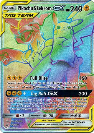 Image result for Pikachu and Zekrom (Secret) - Team Up