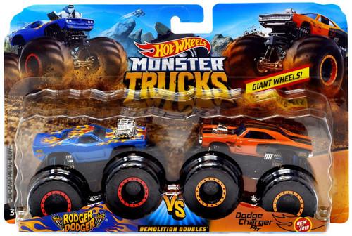 hot wheels monster trucks demolition doubles rodger dodger  dodge charger  die cast car