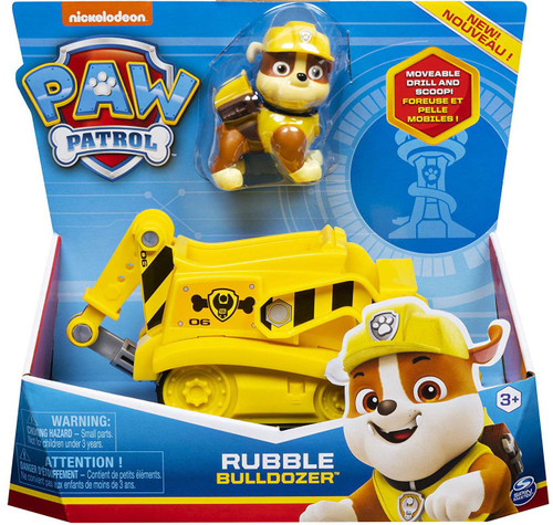 paw patrol rubble bulldozer spin master  toywiz