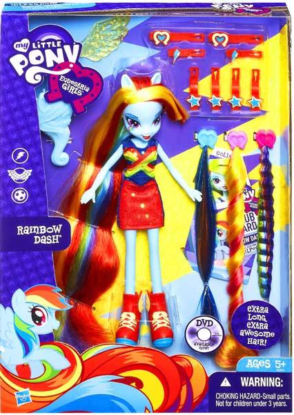 My Little Pony Equestria Girls Radical Hair Rainbow Dash 9 ...