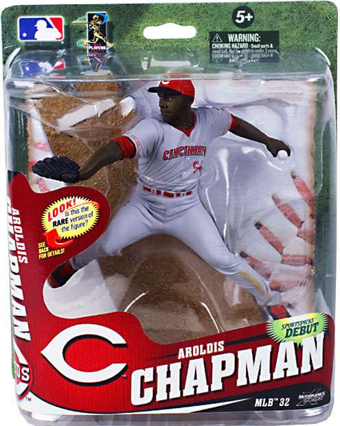 08d1c8be70 McFarlane Toys MLB Cincinnati Reds Sports Picks Series 32 Aroldis Chapman  Action Figure [Gray Uniform