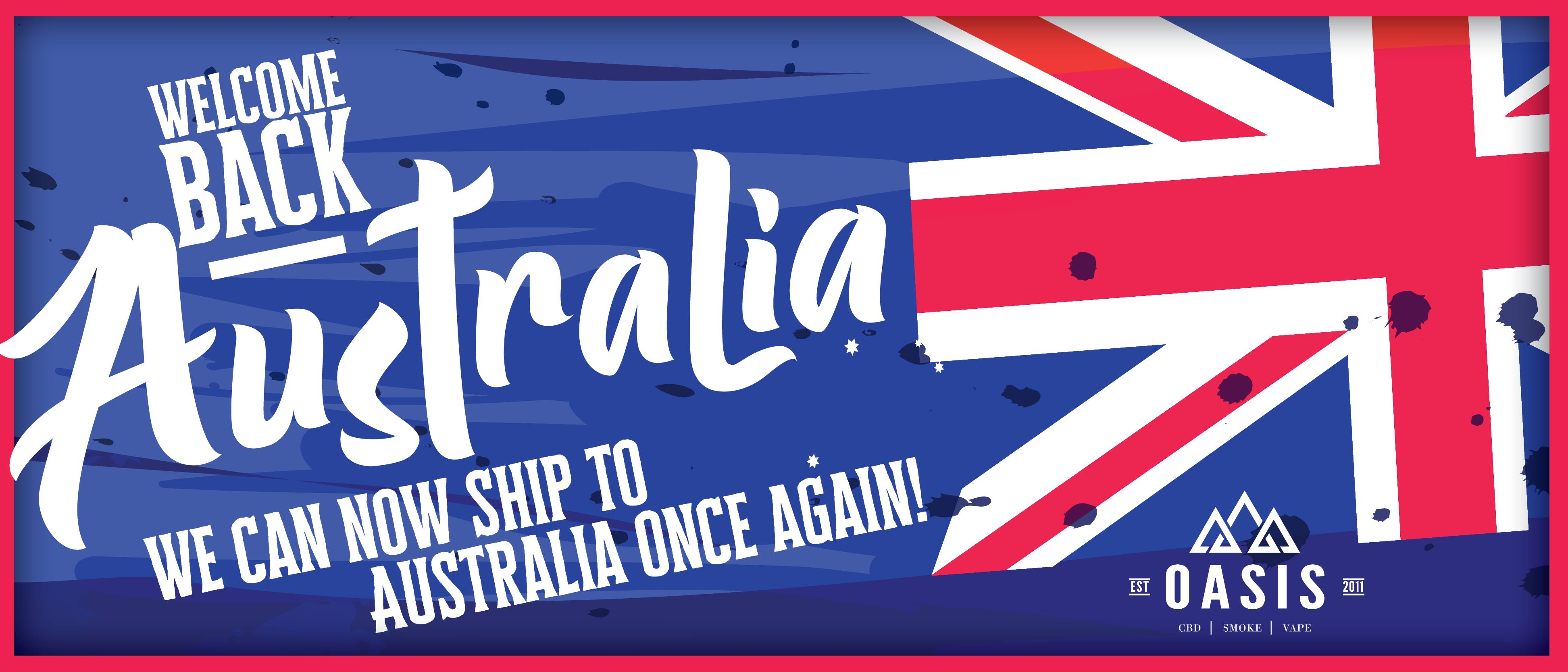 Welcome back Australia. We can now ship to Australia again!