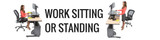 Work Sitting Or Standing with Versa Power Desktop