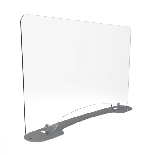 Sneeze Guard With Metal Base and Pass Through Window