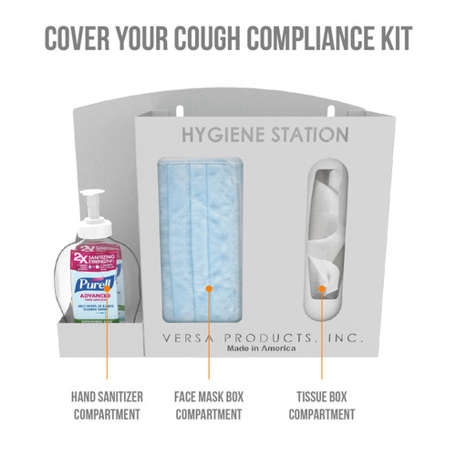 Wall Mount Hygiene Station - 3 Compartments