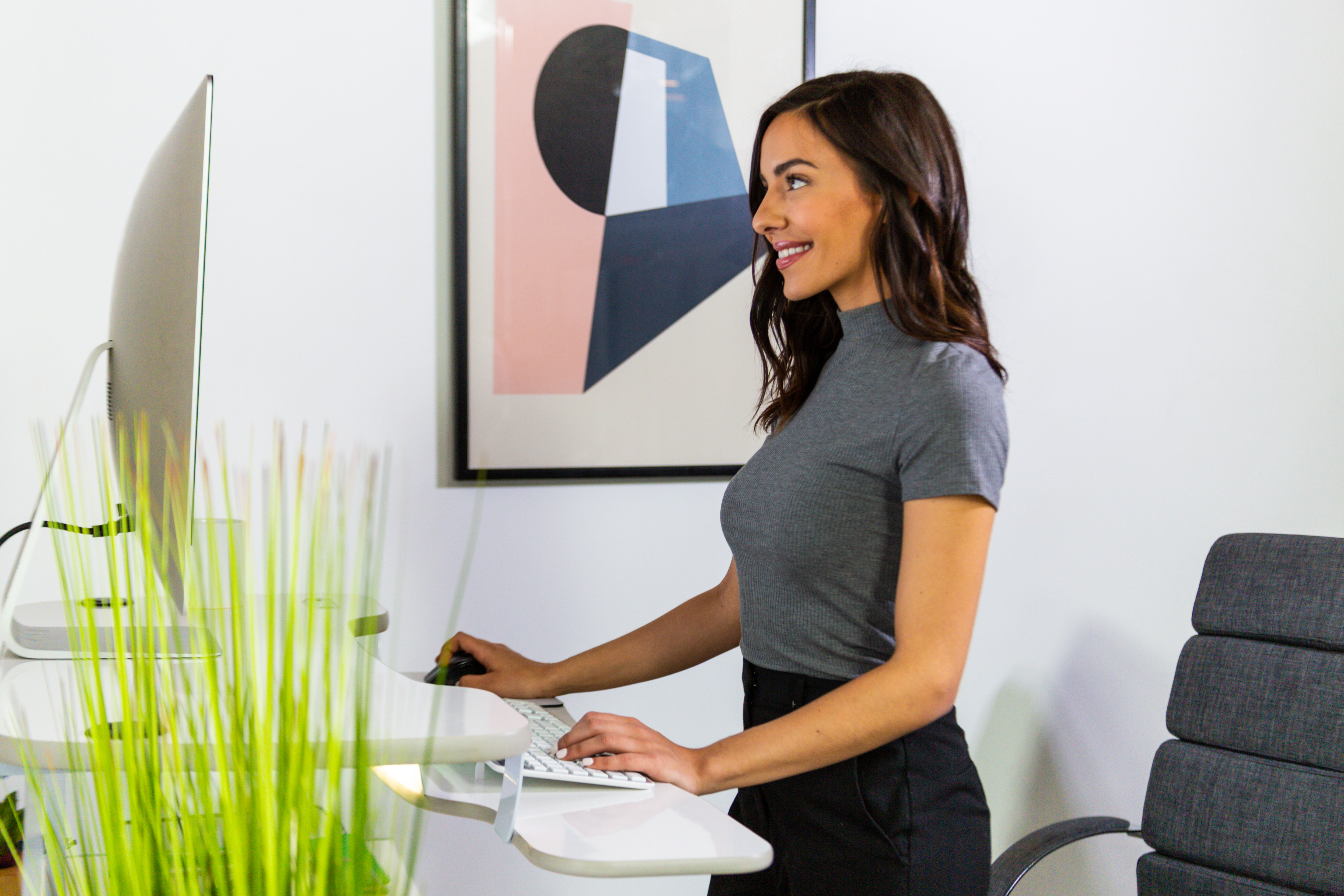 Power Pro electric standing desk converter