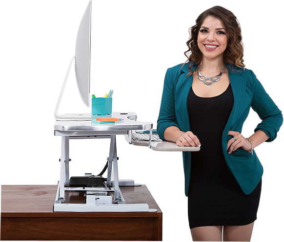 Employee With Standing Desk