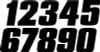 """DIRT DIGITS #0 7"""" BLACK DIGITS 3/PK (DD73B-0)"""