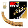 EK 520MRD7 Heavy Duty Gold MX Motorcycle Chain (Clip Master)