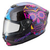 Scorpion Exo-R420 Full-Face Sugarskull Helmet Black Pink