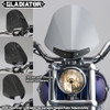 NATIONAL CYCLE GLADIATOR WINDSHIELD W/BLACK MOUNTS (LIGHT TINT) (N2702)
