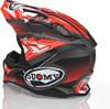 Suomy Carbon Alpha Waves Matte Red Silver Helmet