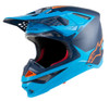 Alpinestars Supertech M10 Blue Orange Helmet