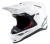 Alpinestars Supertech M10 Solid White Helmet