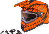 Gmax AT-21S Adventure Epic Snow Helmet w/Electric Shield Matte Orange