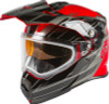 Gmax Youth AT-21Y Epic Snow Helmet Red Silver