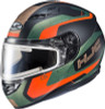 HJC CS-R3 Dosta Snow Elec Orange Green Helmet