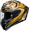 Shoei X-14 AERODYNE TC-9 Gold Helmet