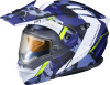 Scorpion EXO-AT950 Outrigger Helmet w/Electric Shield Blue