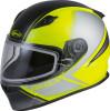 Gmax Youth GM-49Y Hail Snow Helmet Matte Hi-Vis Black Grey