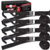 Progrip Powersports Motorcycle Soft Loop Tie Down Straps Lab Tested (4 Pack)